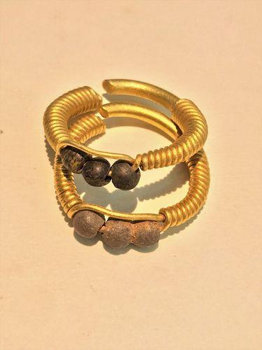 Pair of Byzantine gold