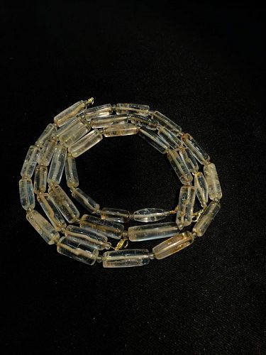 A rare crystal pair of beads necklace originating from the tribal regi