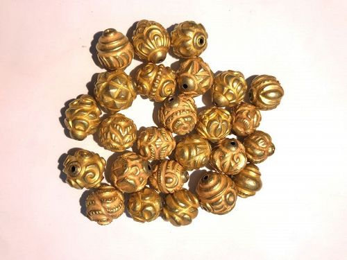 A beautiful rare pyu gold BEADS of 18 karat originating from Burma