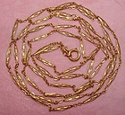 French Muff Chain 18K Yellow Gold 61 Inches Long