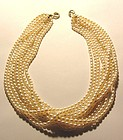 Authentic Tiffany Paloma Picasso 18K Pearl Necklace New
