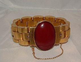 Victorian 18K Gold Carnelian Link Bracelet c1880