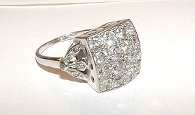 Dazzling 1920s Deco Platinum Diamond Ring