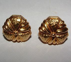 Hammerman Brothers 18K Gold Earrings or Cufflinks