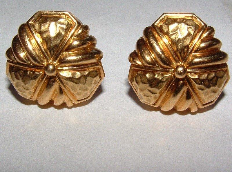 Hammerman Brothers 18K Gold Cufflinks or Earrings
