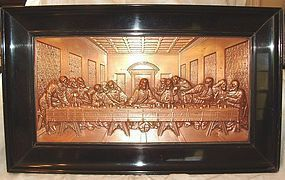 Da Vinci 'The Last Supper' in Copper Bas Relief German