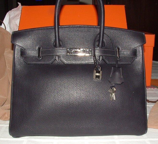 Hermes Birkin Black Silver