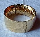 18K Yellow Gold Wide Cuff Bracelet Heavy