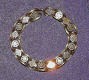 Victorian 18K Yellow and Rose Gold Bookchain Bracelet