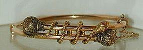 Victorian 14 KT Gold Snake Bracelet