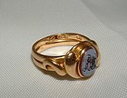 English Victorian 18K Yellow Gold Snake Ring
