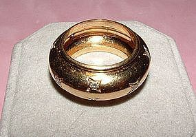 Authentic Chaumet 18K Yellow Gold Diamond Band