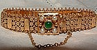 14K Yellow Gold Bracelet with Jade Pearl Clasp