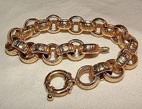 Vintage 14K Yellow Gold Link Bracelet