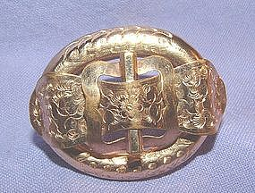 Victorian 14K Yellow Gold Buckle Pin