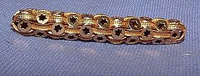 18K Yellow Gold Victorian Bar Pin