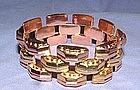 18K Yellow Rose Gold Retro Link Bracelet