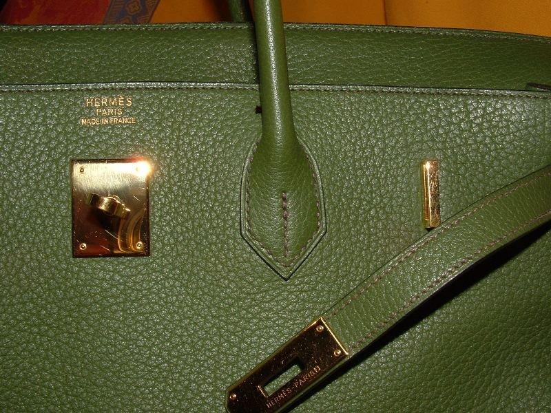 Authentic Hermes Birkin Green Togo Leather Bag 40cm