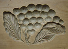 Kashigata, Wooden Sweet Mold, Biwa (Loquat) Motif