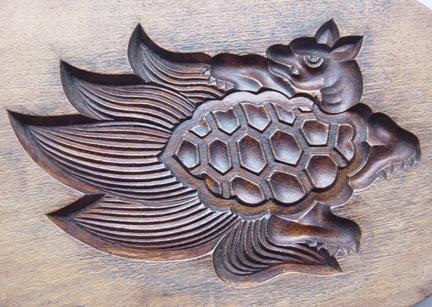 Kashigata, Wooden Sweet Mold, Minogame, Tortoise