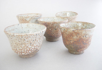 Small Cups for Tea / Sake, Shino Glaze, George Gledhill