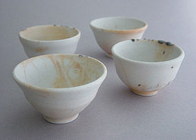 Sake or Tea Cups, Porcelain, set of 4, George Gledhill