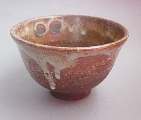 Tea Cup, Chawan; Shino Glaze, by George Gledhill