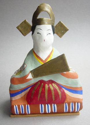 Miharu Hariko Papier-mache Doll, Hina Ningyo