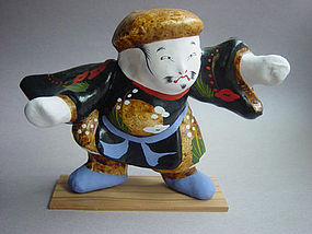Miharu Hariko Papier-mache Doll; Daikoku, God of Wealth