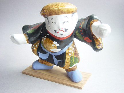 Miharu Hariko Papier-mache Doll; Daikoku, God of Wealth