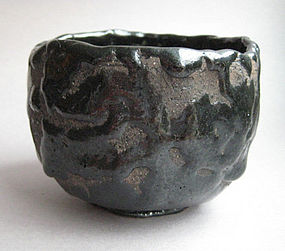 Black Raku Tea Bowl, Chawan, George Gledhill