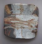 Plate, Shino & Ash Glaze, by George Gledhill