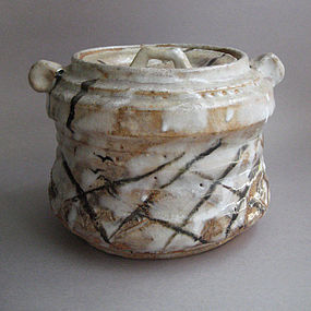 E-Shino Mizusashi, Water Jar, by George Gledhill