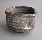 Tea Cup, Chawan, Gray Shino Glaze, by George Gledhill