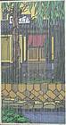 Takasegawa Spring, Clifton Karhu Woodblock Print