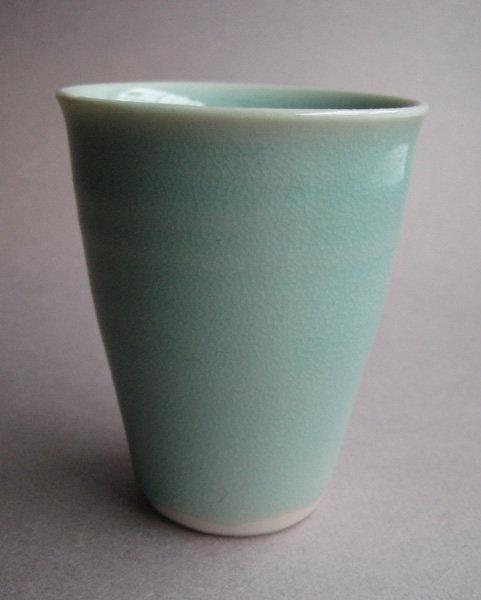 Sake/Whisky/Tea Cups, Porcelain; by Hanako Nakazato