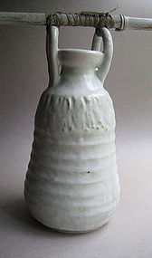 White Shino Vase, by Sachiko Furuya