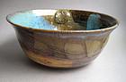 Lotus Bowl, Bamboo Ash Glaze, by Sachiko Furuya