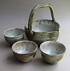 Cold Sake Serving Set, Hisage Shuki. Sachiko Furuya