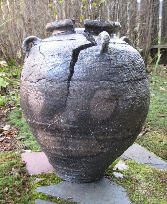 Fissured Jar, Woodfired; George Gledhill; Payette, ID
