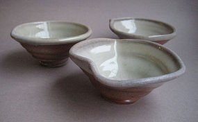 Sake Cups, Guinomi, set of 3, by John Benn