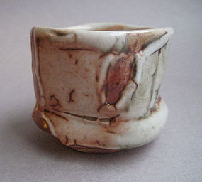 Sake Cup, Guinomi, Shino Glaze, John Benn