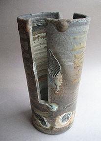 Vase, Ash Glaze; John Benn, Harstine Island, WA