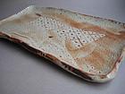 Sushi Plate, Shino Glaze; John Miller; Portland, OR