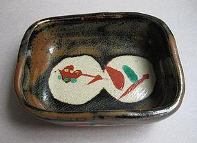 Small Dishes, Kaki Glaze; Isamu Tagami; Mashiko