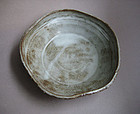 Lobed Dish with Sgraffito Decoration, Sachiko Furuya