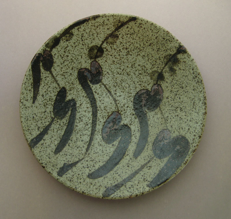 Vintage Mashiko ware Large Plates, seven pieces in five patterns