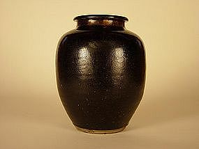 Kasama-yaki Tsubo (Jar,) late Edo-early Meiji Era
