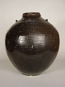 Cha-Tsubo (Tea Leaf Storage Jar,) Meiji Era
