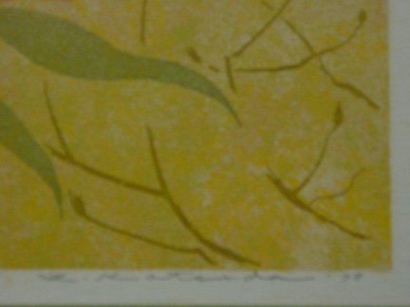 Yukio Katsuda Print, No. 106 (Camellia), 1977